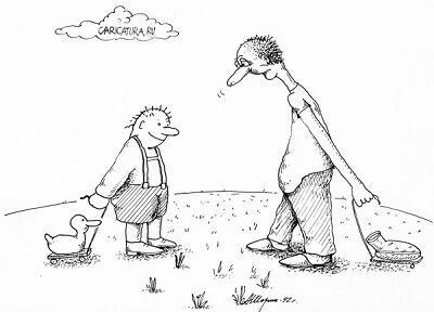анекдот картинка про гусей и уток