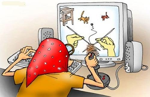 анекдот картинка про интернет