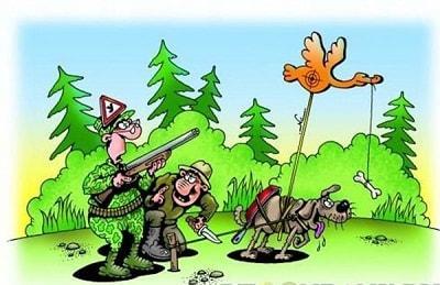 анекдот картинка про охоту и рыбалку