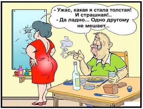 анекдот картинка про жирных и толстых