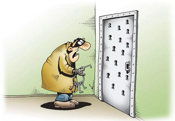 анекдоты про человека и дверь