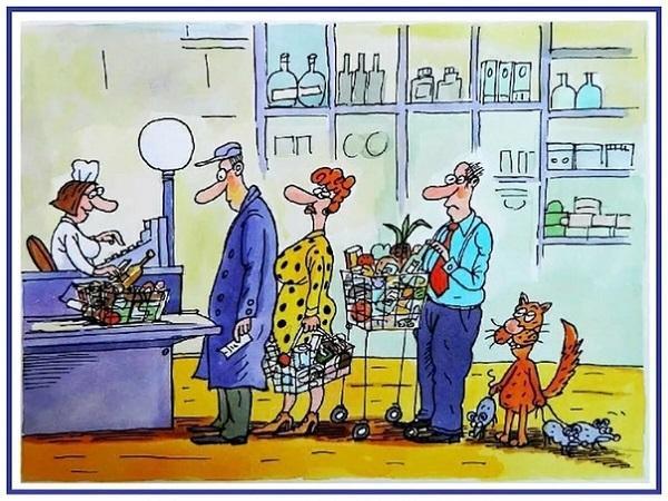 анекдоты про магазины и товары