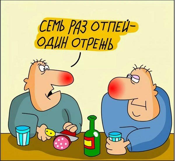 анекдоты про водку и друга