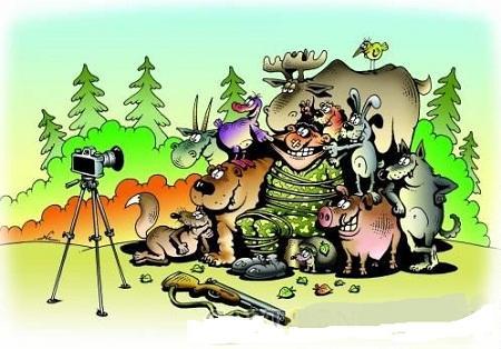 Анекдоты – картинки про охоту и охотников
