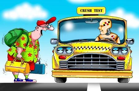 анекдот картинка про такси и маршрутку