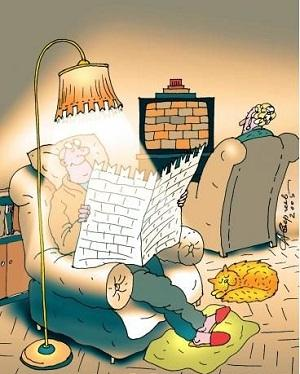 анекдот картинка про вечер