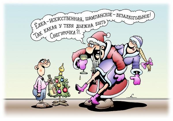 анекдоты про деда мороза и снегурочку