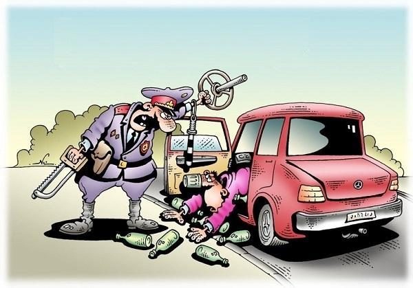Анекдоты про машину и права