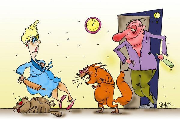 анекдоты про мужа и друга