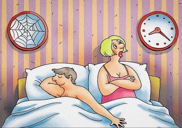 анекдоты про мужчин и постель