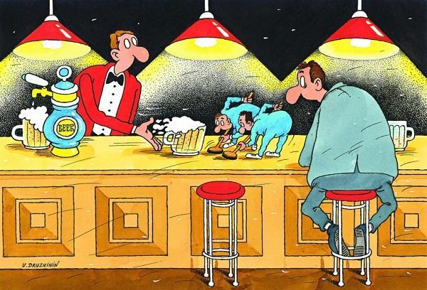 анекдоты про мужиков и бар