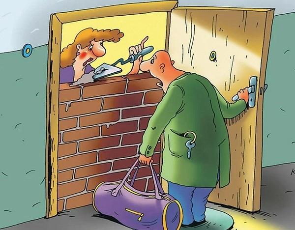 анекдоты про руки и двери