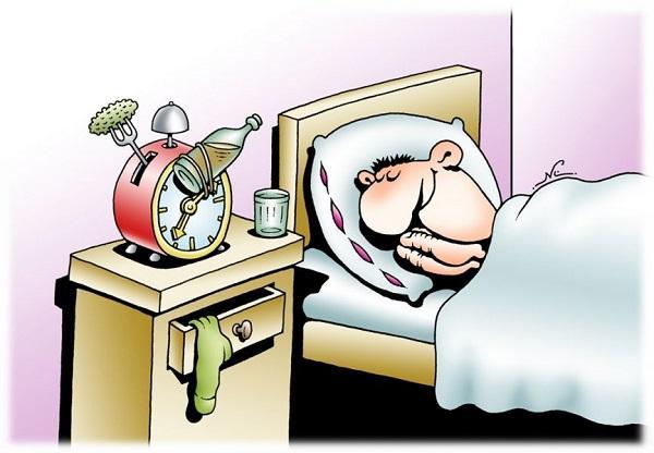 анекдоты про утро и часы