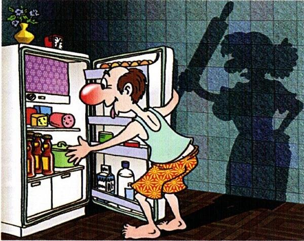 анекдоты про жену и холодильник
