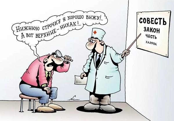анекдоты про доктора и глаза