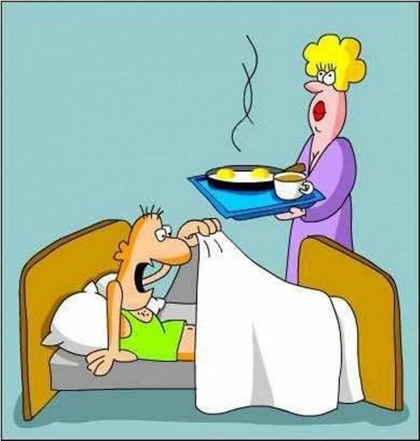 Анекдоты про мужа и утро