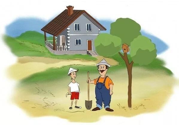 анекдоты про сына и дерево