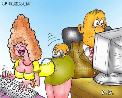 Анекдоты - картинки про секретарш