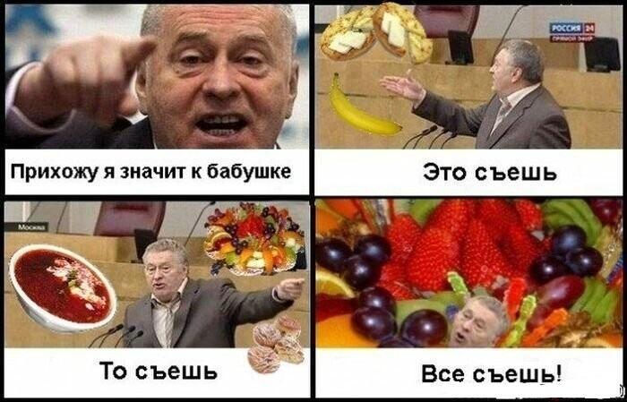 Смешные мемы с Жириновским