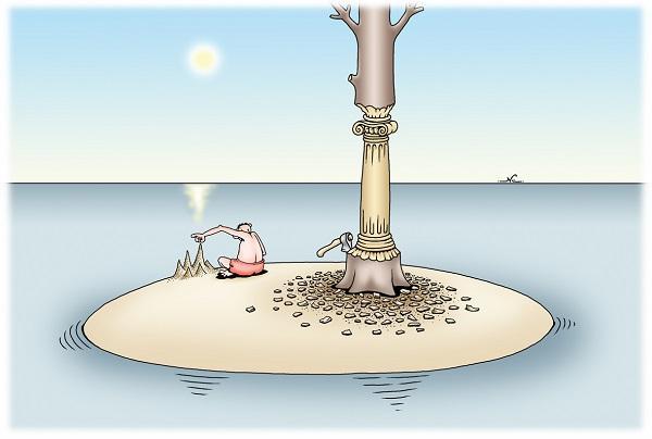 анекдоты про необитаемый остров