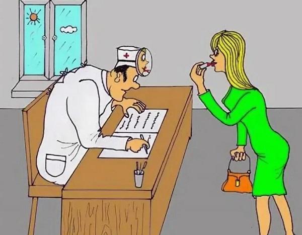Анекдоты про женщин и прием