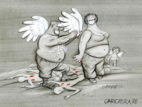 Анекдоты - картинки про ангелов и чертей