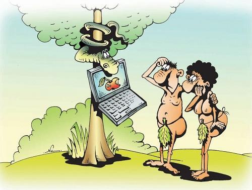 Анекдоты – картинки про Адама и Еву