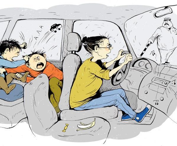 Анекдоты про маму и машину