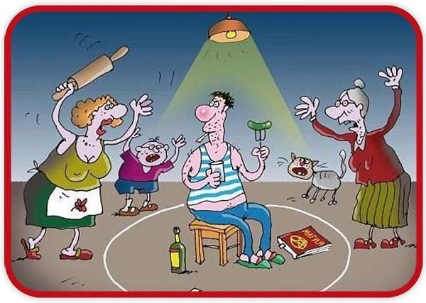 Анекдоты про человека и семью