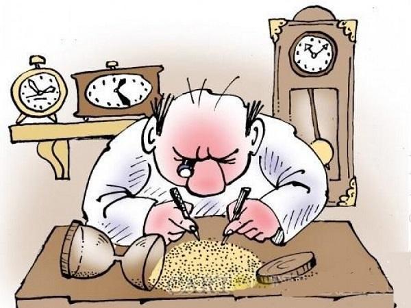 анекдоты про работу и часы