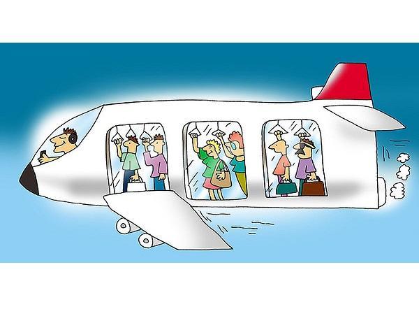 анекдоты про салон самолета