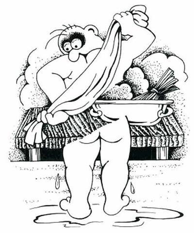 Анекдоты - картинки про баню и сауну